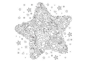 Ausmalbilder f r jeden weihnachtskarten druck - Ausmalbild stern ...