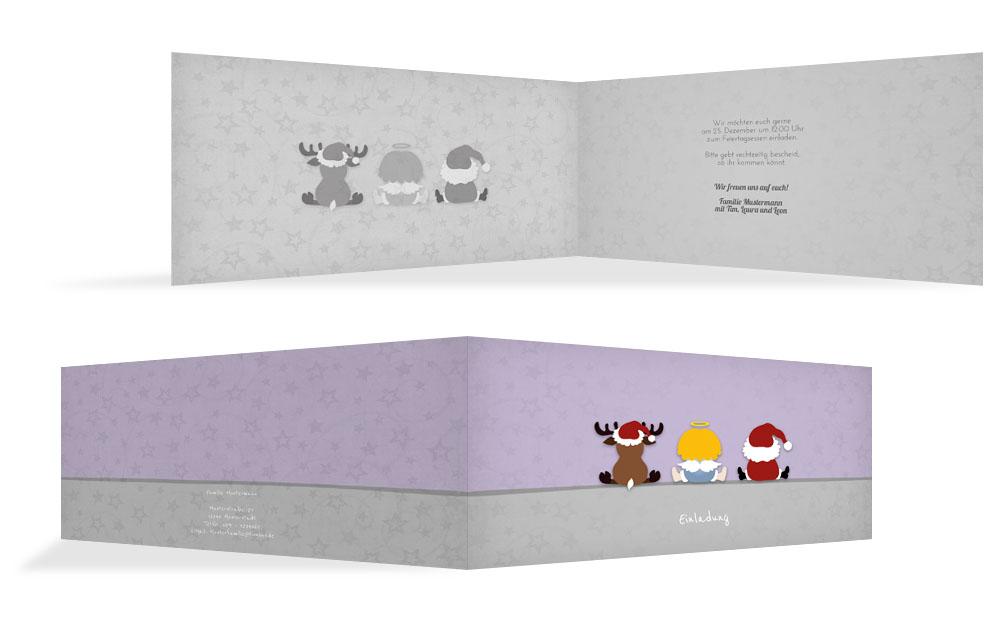 Weihnachtseinladungen online weihnachtskarten druck - Weihnachtskarten online versenden ...