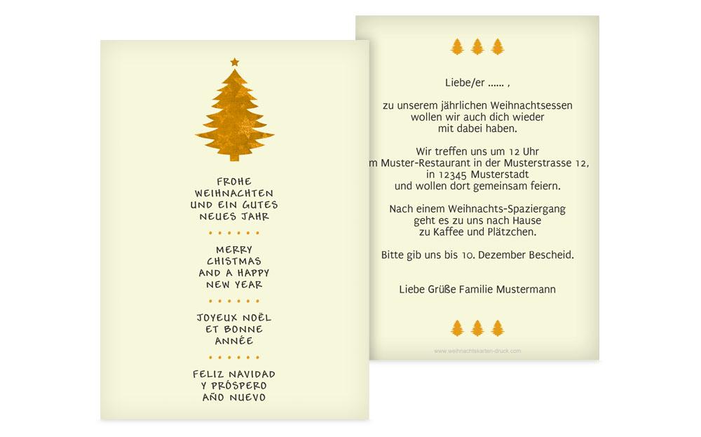 klassische weihnachtseinladungen gestalten drucken. Black Bedroom Furniture Sets. Home Design Ideas