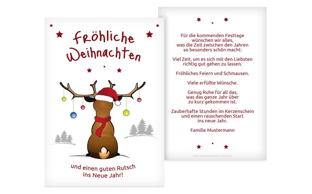 Originelle weihnachtsgr e weihnachtskarten druck for Weihnachtskarten text privat