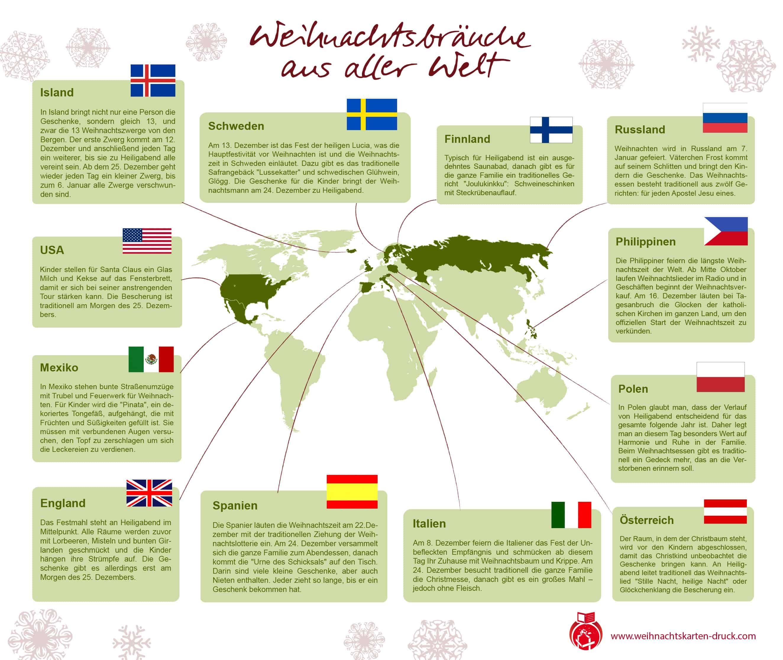 Infografik: Weihnachtsbräuche aus aller Welt