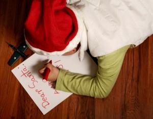 Kind schreibt Brief an Santa