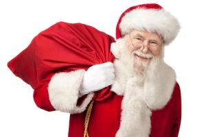 Weihnachtsmann trägt Rot
