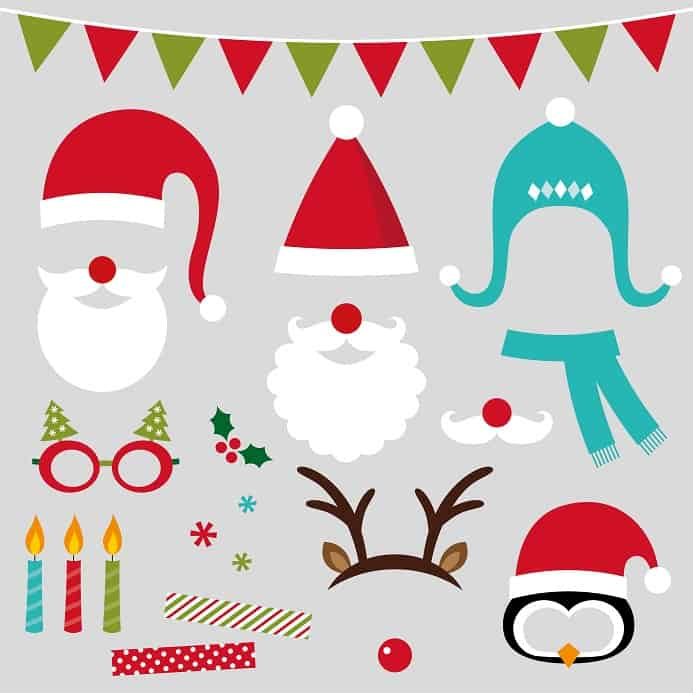 Fotobox mit weihnachtlichen Verkleidungen