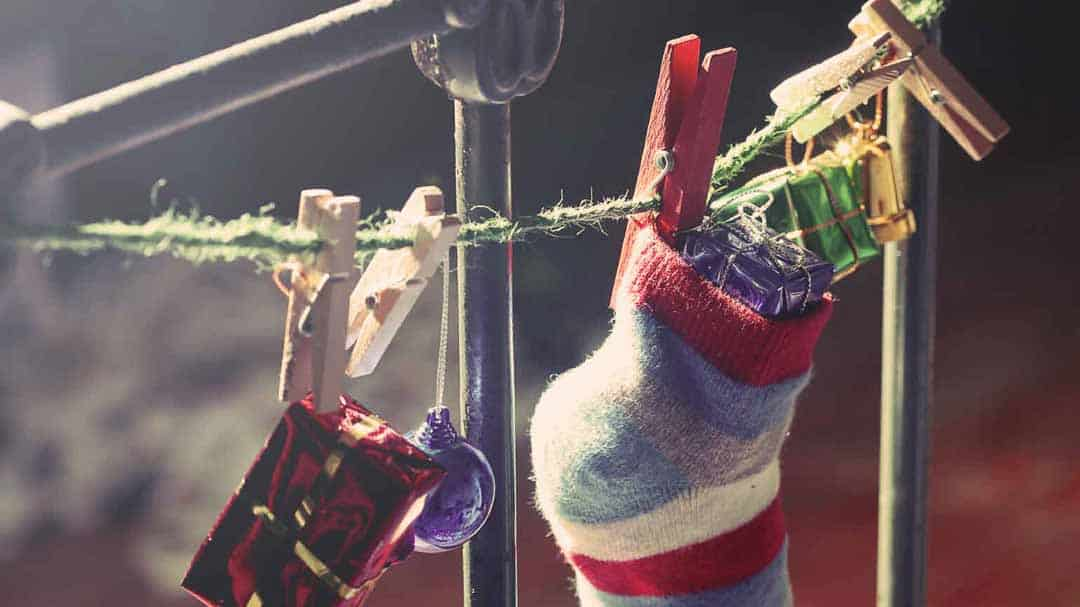 Socke mit Geschenken