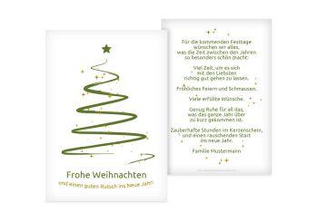 Weihnachtskarten Bedrucken.Grußkarte Wunderbaum