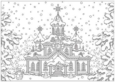 Ausmalbilder Für Jeden Weihnachtskarten Druck