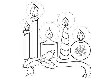 Malvorlagen Kerzen