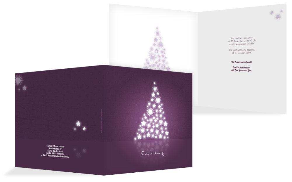 Moderne weihnachtseinladungen weihnachtskarten druck for Moderne weihnachtskarten