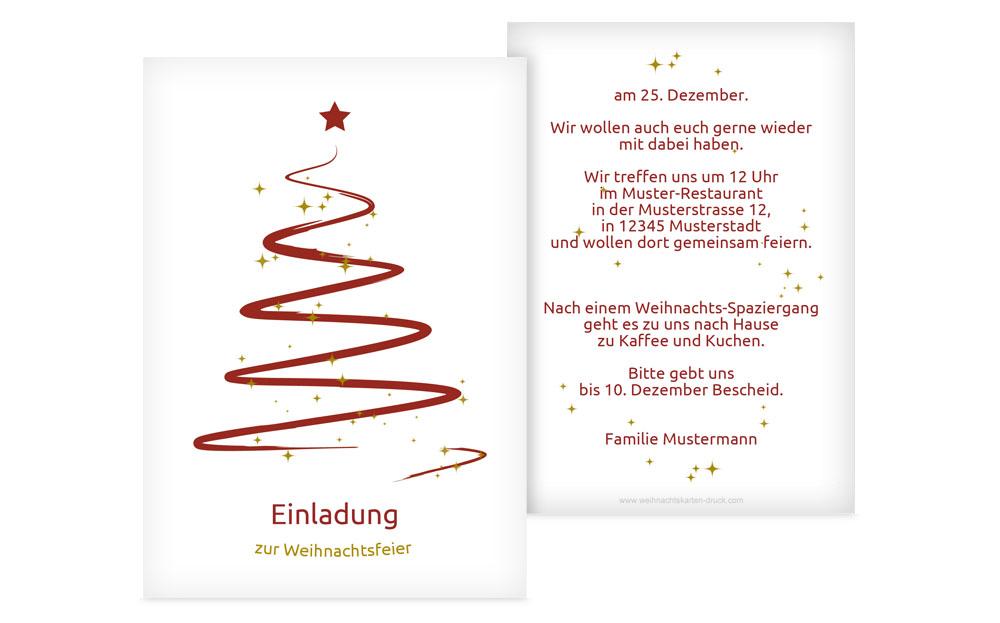 Originelle Weihnachtseinladungen | Weihnachtskarten-Druck