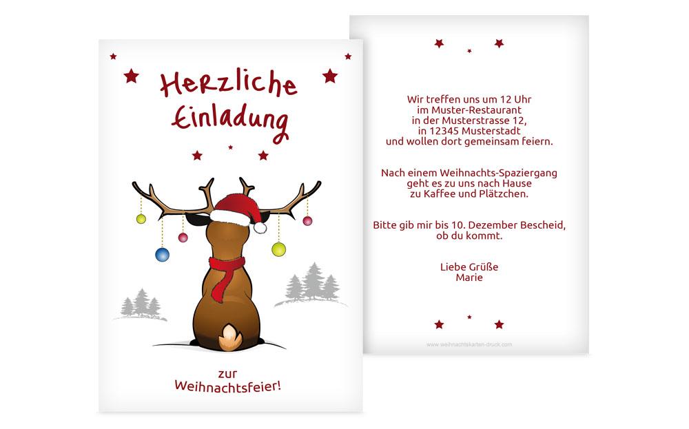 weihnachtseinladungen online | weihnachtskarten-druck, Einladung