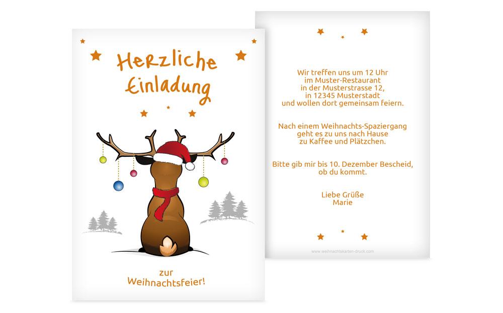 Weihnachtseinladungen online | Weihnachtskarten-Druck