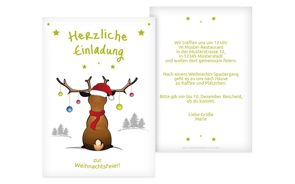 weihnachtseinladungen online | weihnachtskarten-druck, Einladungen