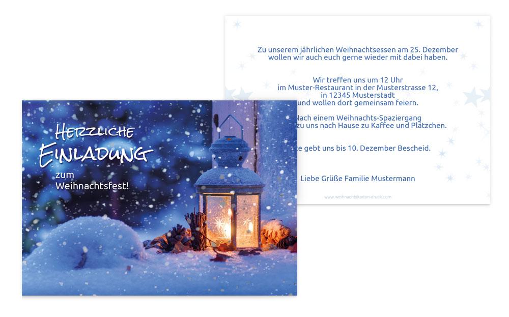 Weihnachtskarten Einladung.Weihnachtseinladungen Online Weihnachtskarten Druck
