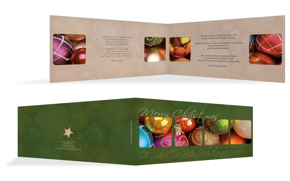 Moderne Christbaumkugeln.Moderne Weihnachtsgrüße Weihnachtskarten Druck