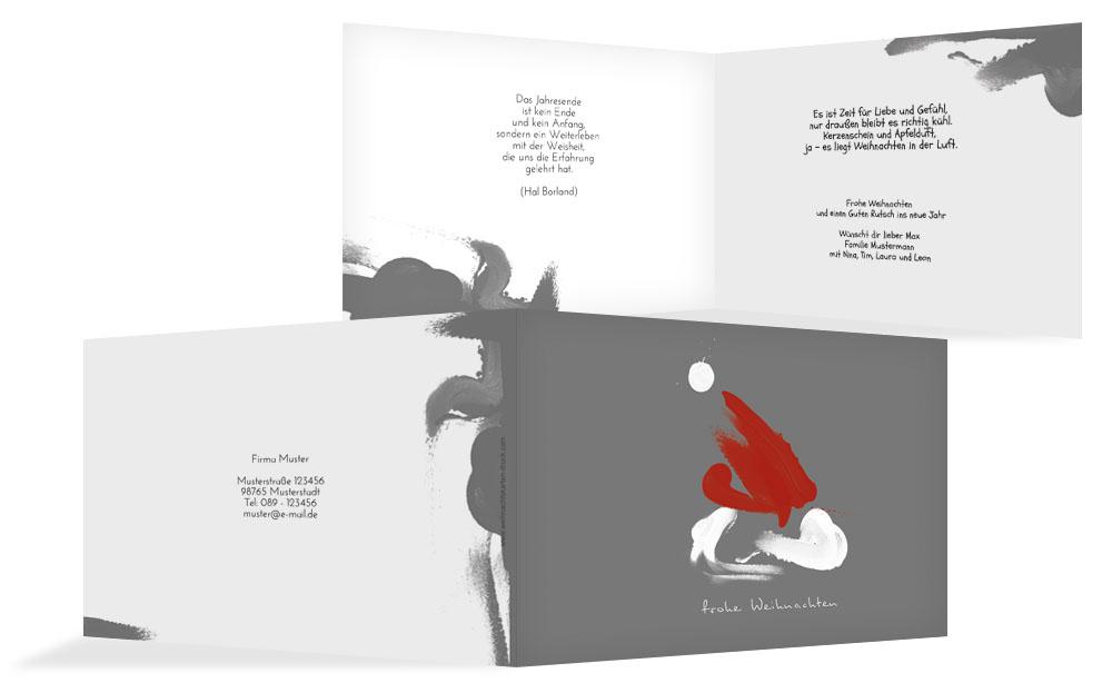 Stylische Weihnachtskarten.Originelle Weihnachtsgrüße Weihnachtskarten Druck
