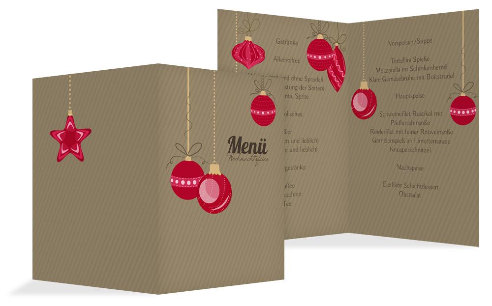 Menükarten Für Weihnachten Online Weihnachtskarten Druck