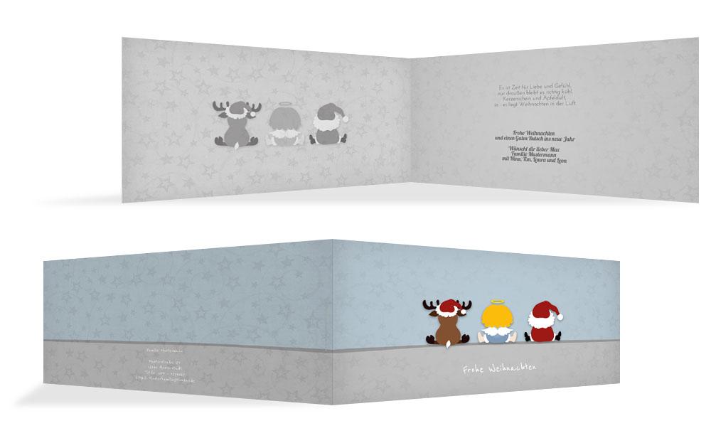 Originelle weihnachtsgr e weihnachtskarten druck for Originelle weihnachtskarten
